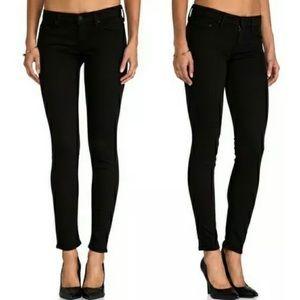 Mother the Looker Crop Skinny Jeans Black 25